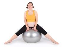 άσκηση της έγκυου γυναίκ στοκ εικόνα με δικαίωμα ελεύθερης χρήσης