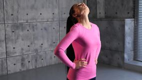 άσκηση της γυμναστικής κ&omi απόθεμα βίντεο
