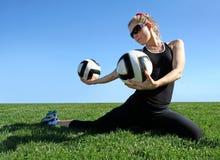 Άσκηση της γυναίκας στοκ εικόνα με δικαίωμα ελεύθερης χρήσης