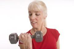 άσκηση της γυναίκας στοκ φωτογραφία