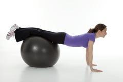 άσκηση της όμορφης γυναίκ&alph Στοκ Εικόνες