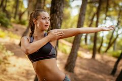 άσκηση του δασικού κορι& Στοκ φωτογραφίες με δικαίωμα ελεύθερης χρήσης
