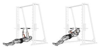 άσκηση Τράβηγμα-UPS στα brachialis Στοκ Εικόνες