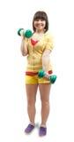 άσκηση των βαρών κοριτσιών Στοκ εικόνα με δικαίωμα ελεύθερης χρήσης