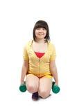 άσκηση των βαρών κοριτσιών Στοκ Φωτογραφίες