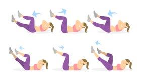 Άσκηση ABS για τις γυναίκες Στοκ εικόνα με δικαίωμα ελεύθερης χρήσης