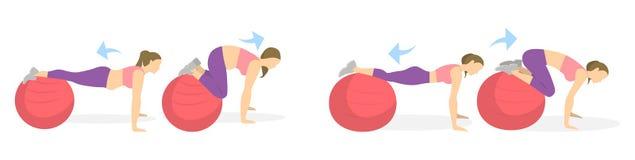 Άσκηση ABS για τις γυναίκες Στοκ Εικόνα