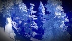 Δάσος Christmac στα βουνά Στοκ εικόνα με δικαίωμα ελεύθερης χρήσης