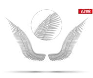 Άσπρα ανοικτά φτερά αγγέλου διάνυσμα Στοκ Φωτογραφίες