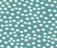 Άσπρα αστέρια σε ένα τυρκουάζ υπόβαθρο Στοκ Εικόνα