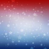 Άσπρα αστέρια στο κόκκινο άσπρο και μπλε υπόβαθρο λωρίδων Πατριωτικό ημέρα μνήμης στις 4 Ιουλίου ή σχέδιο ψηφοφορίας εκλογής διανυσματική απεικόνιση