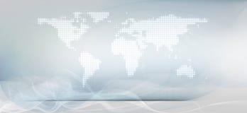 Άσπρα γραμμές και υπόβαθρο παγκόσμιων χαρτών διανυσματική απεικόνιση