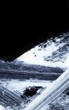 Άσπρα εκφραστικά κτυπήματα βουρτσών για τα δημιουργικά, καινοτόμα, ενδιαφέροντα υπόβαθρα στο ύφος zen Στοκ φωτογραφία με δικαίωμα ελεύθερης χρήσης