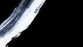 Άσπρα εκφραστικά κτυπήματα βουρτσών για τα δημιουργικά, καινοτόμα, ενδιαφέροντα υπόβαθρα στο ύφος zen Στοκ Φωτογραφίες