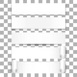 Άσπρα εμβλήματα Στοκ Εικόνες