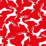 Άσπρα ελάφια στο κόκκινο Στοκ Εικόνες