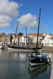 Άσπρα ιστορικά σκάφη φτερών και θεριστών, Anstruther Στοκ Εικόνα