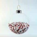 Άσπρα κιβώτια δώρων με τις κόκκινες κορδέλλες Απεικόνιση αποθεμάτων