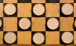 Άσπρα κομμάτια Checkerboard Στοκ Φωτογραφίες