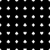 Άσπρα κοστούμια καρτών στο μαύρο υπόβαθρο επίσης corel σύρετε το διάνυσμα απεικόνισης απεικόνιση αποθεμάτων
