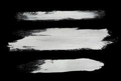 Άσπρα κτυπήματα βουρτσών Στοκ Εικόνες