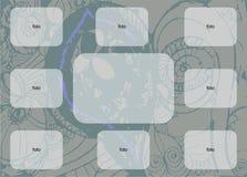 Άσπρα ορθογώνια ενός στα διαμορφωμένα μπλε υποβάθρου για τη φωτογραφία ή το κείμενο διανυσματική απεικόνιση