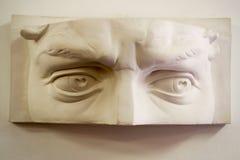 Άσπρα πέτρινα μάτια αγαλμάτων Στοκ φωτογραφία με δικαίωμα ελεύθερης χρήσης