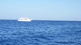 Άσπρα πανιά γιοτ σκαφών στο μπλε νερό της θάλασσας ή του ωκεανού φιλμ μικρού μήκους