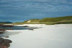 Άσπρα παραλία και Machair άμμου στη δυτική ακτή του νησιού Io Στοκ Εικόνες