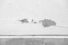 Άσπρα παλαιά συγκεκριμένα υπόβαθρα τοίχων τσιμέντου κατασκευασμένα Στοκ Φωτογραφία