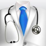 Άσπρα παλτό και στηθοσκόπιο εργαστηρίων γιατρών Στοκ φωτογραφία με δικαίωμα ελεύθερης χρήσης