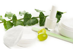 Άσπρα προϊόντα ομορφιάς Στοκ εικόνα με δικαίωμα ελεύθερης χρήσης