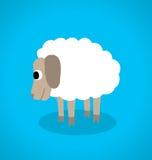 Άσπρα πρόβατα διανυσματική απεικόνιση