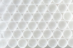 Άσπρα πώματα Στοκ Φωτογραφίες