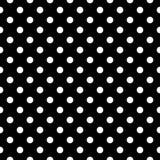 Άσπρα σημεία Πόλκα στο μαύρο υπόβαθρο, άνευ ραφής σχέδιο διανυσματική απεικόνιση