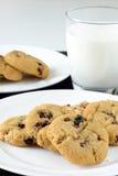 Άσπρα μπισκότα σοκολάτας και των βακκίνιων Στοκ Φωτογραφίες
