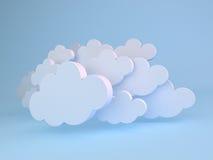 Άσπρα σύννεφα πέρα από το μπλε Στοκ εικόνα με δικαίωμα ελεύθερης χρήσης