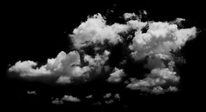 Άσπρα σύννεφα πέρα από το μπλε Στοκ Φωτογραφίες
