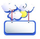Άσπρα σύννεφα Στοκ φωτογραφία με δικαίωμα ελεύθερης χρήσης