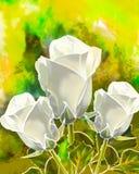 Άσπρα τριαντάφυλλα από τη μαστίχα Στοκ φωτογραφίες με δικαίωμα ελεύθερης χρήσης