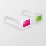 Άσπρα τρισδιάστατα γυαλιά Στοκ φωτογραφία με δικαίωμα ελεύθερης χρήσης