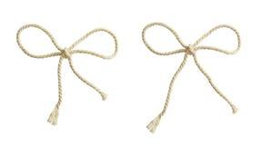 Άσπρα τόξα σχοινιών βαμβακιού Στοκ εικόνες με δικαίωμα ελεύθερης χρήσης