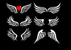 Άσπρα φτερά αγγέλου Στοκ Φωτογραφίες