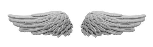 Άσπρα φτερά ασβεστοκονιάματος Στοκ Φωτογραφίες