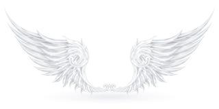 άσπρα φτερά διανυσματική απεικόνιση