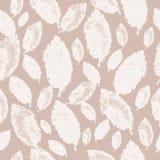 Άσπρα φύλλα σε ένα χλωμό υπόβαθρο, άνευ ραφής σχέδιο Στοκ Εικόνα