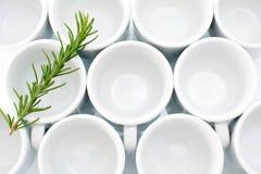 Άσπρα φλυτζάνια Στοκ φωτογραφίες με δικαίωμα ελεύθερης χρήσης