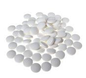 Άσπρα χάπια Στοκ φωτογραφίες με δικαίωμα ελεύθερης χρήσης