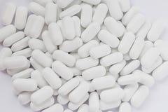 Άσπρα χάπια Στοκ Φωτογραφία