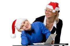 άσπρα Χριστούγεννα οικο&gam στοκ φωτογραφία